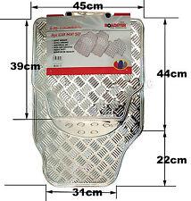 4pc CAR Mat Set Alluminio Argento Tappetini Heavy Duty UNIVERSALE ANTI SCIVOLO POSTERIORE 9C