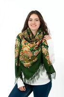 Authentic Large Russian Pavlovo Posad Scarf Shawl 100% Wool 146x146 Winter 17/18