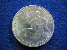 1972 F Germany Silver 10 Mark Olympic Commemorative - BU - Free U S Shipping