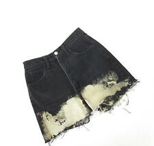 "Vtg Cutoff Bleached Guess Jean Shorts High Waisted Cut Off Denim 26.5"" Waist"