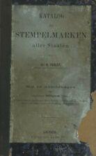 Katalog der Stempelmarken aller Staaten von Dr. A.  Perlep mit 45 Abbildungen