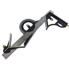 12 Inch Combination Square Angle Finder Steel Ruler Spirit Level Measure Gauge