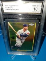 GMA 10 💎MINT~2020 TOPPS  LOU GEHRIG YANKEES TURKEY RED Topps Chrome Parallel🔥⚾