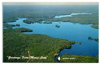 Greetings from Moose Lake, WI Postcard *5D