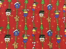 TRENA'S LITTLE BIT OF CHRISTMAS III HANGING ORNAMENTS COTTON FABRIC BY THE YARD