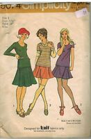 5074 Vintage Simplicity Sewing Pattern Misses Two Piece Knit Dress OOP 1970's 8