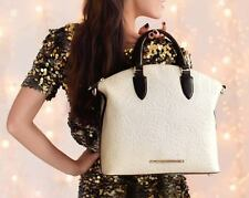 ❤️BRAHMIN DUXBURY SATCHEL CREME SAINT GERMAINE CREAM BROWN EMB LEATHER FRESCO❤️