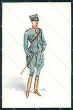 Militari Propaganda WWI Uniforme Esercito GMD cartolina XF0520
