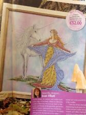 Joan Elliott Unicorn And The Maiden Fantasy Cross Stitch Chart