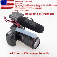 NEW Rode VIDEOMIC Camera Mounted Shotgun MIC On Camera Recording Microphone US