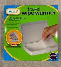 Dexbaby Travel Wipe Warmer with Home & Car Adaptors Brand New