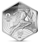 NEU ! FRANKREICH 10 euro HEXAGONAL SILBER Marianne Olympische Spiele Paris 2024