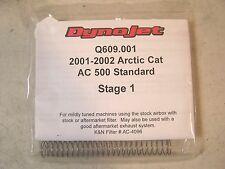 ARCTIC CAT NOS OEM AC 500 DYNOJET Q609 STANDARD STAGE 1 JET KIT 2001-02