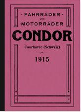 Condor Fahrräder Motorräder Katalog Broschüre Prospekt Beschreibung Motorrad