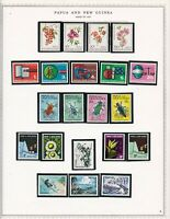 Papua stamps, small collection of 62, MHOG, VVF-XF, 1967-69, w/topicals, SCV $37