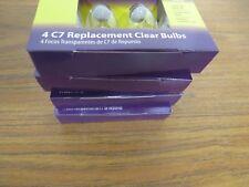 + 16x Clear Light Bulbs C7 5W Candelabra Base Indoor/Outdoor 120V 60Hz Christmas