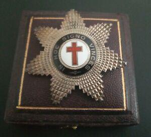 1879 Victorian Masonic Knights Templar Silver Breast Star**by George Kenning**