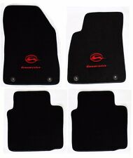 NEW! BLACK Floor Mats 2014-2017 Chevy Impala Embroidered Running Logo Red Double