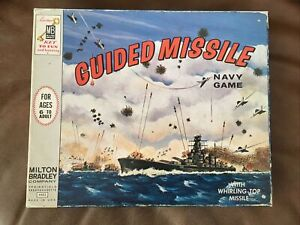 Vintage MILTON BRADLEY Rare GUIDED MISSILE NAVY GAME Military Collectible 1964