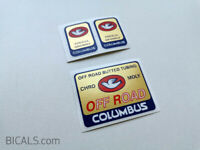 COLUMBUS OFF ROAD decal sticker frame fork - silk screen - free shipping