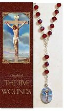 Five Wounds (Holy Wounds) Chaplet (PS340) (Rosary) NEW 10.5 Inches W/ Pamphlet