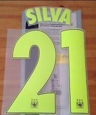2014-15 Manchester City UCL Third Shirt SILVA#21 SportingiD Name Number Set