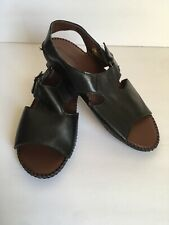 Naturalizer Scout 5.5 Black Leather Sandal Sport Strap Casual New