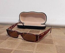 Guess GU 1209 Tortoise Shell Tinted Prescription Glasses w/hard clam shell case