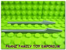 New LEGO Weapons Lot of 2 Silver Minifig SPEARS Ninjago Castle Star Wars Parts
