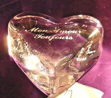 """Baccarat Crystal Paperweight-""""Mon Amour Toujour"""" """"My Love Always"""""""