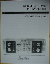 PHASE LINEAR PL 4000 Series II PREAMPLIFIER MANUAL SET 72 Pages