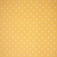 GIALLO LIMONE 100% COTONE LMS Bianco Polka Dot Spot * TESSUTO al metro lineare