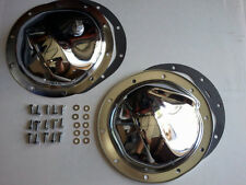 Chevy 4wd Chrome 10 Bolt F&R Chrome Differential Covers W/ Bolts & Gasket K5