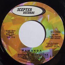 DIONNE WARWICKE: AMANDA scepter CLEAN northern soul 45 hear it