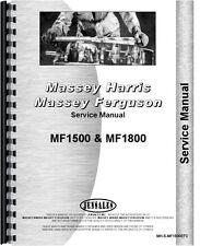 Massey Ferguson 1500 1800 Tractor Service Manual Mh S Mf1500etc