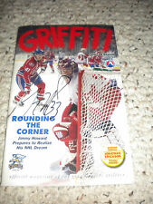 2007-2008 GRAND RAPIDS GRIFFINS GRIFFITI MAGAZINE #2 SIGNED COVER  JIMMY HOWARD