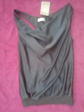 Bonita camiseta raso brillo gris marengo PULL AND BEAR talla L nueva etiqueta
