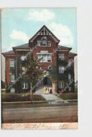 PPC POSTCARD NEW JERSEY HACKENSACK HIGH SCHOOL EXTERIOR STREET VIEW LITHOCHROME