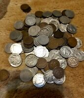 3 Old US Coin Lot;  Buffalo, V Liberty Nickels & Indian Penny. No Cull coins