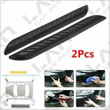 2Pcs Car Rubber Bumper Corner Protector Door Guard Cover Lip Crash Bar Trim Kit