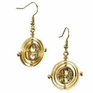 Harry Potter Time-Turner Gold Plated Drop Earrings - Boxed Hermoine Grainger
