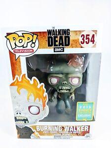 FUNKO Pop TV: The Walking Dead - Burning Walker 2016 SDCC Exclusive Vinyl Figure