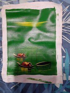 souvenir painting? asian country  25 x 35cm  #3
