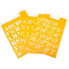 "Reusable Craft Stencils, Small Alphabet, 7"" x 10"", Letter height 1"", Stencil"