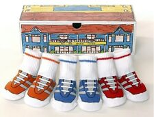 Baby Socks Novelty Trainer Sneaker 3 Pack In Gift Box
