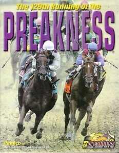 2004 - 129th Preakness Stakes program in MINT Condition - SMARTY JONES