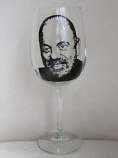 Hand Painted Libbey Clear Wine Glass -  BILLY JOE
