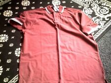 Mens polo shirts x 3 maroon with white flash size xl