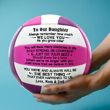 To Our Daughter Love Mom & Dad Engrave Volleyball Ball Anniversary Birthday gift