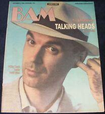 BAM magazine October 5 1984 #192  Talking Heads interview  Violent Femmes RARE